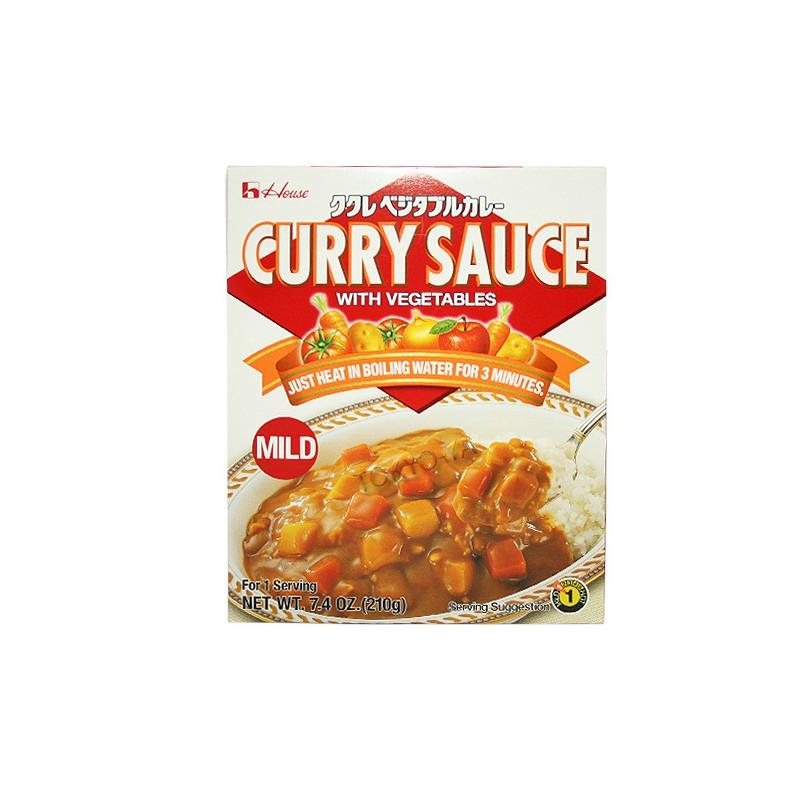 Salsa de Curry con Vegetales poco picante 210 g