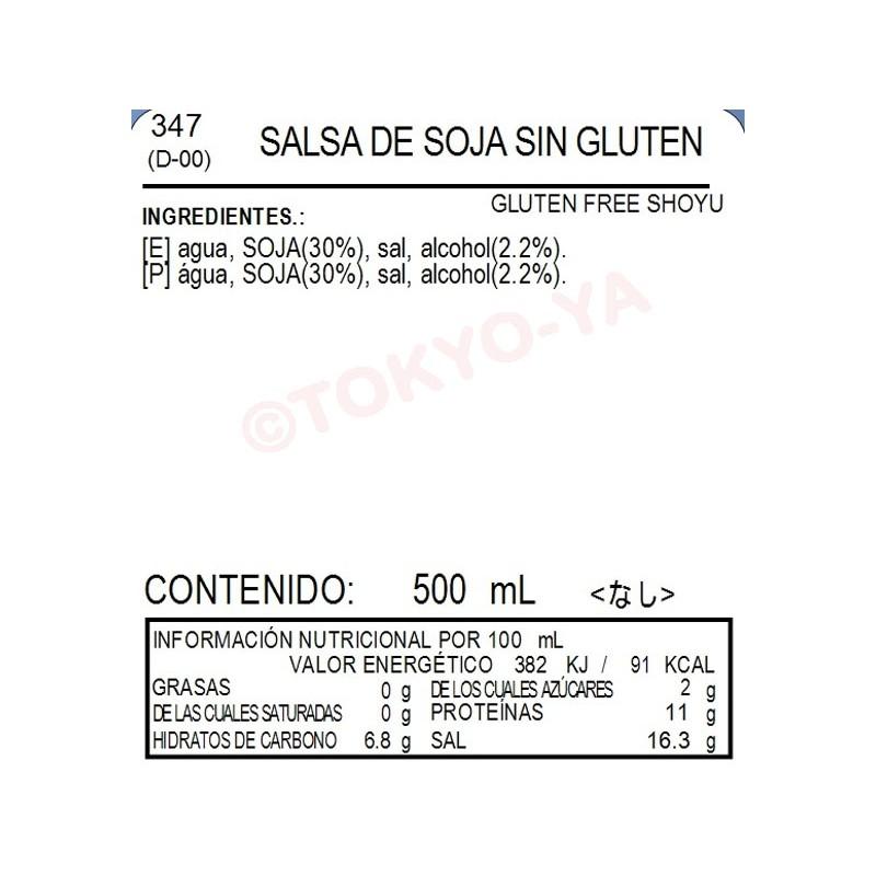 salsa de soja cantidad de proteinas