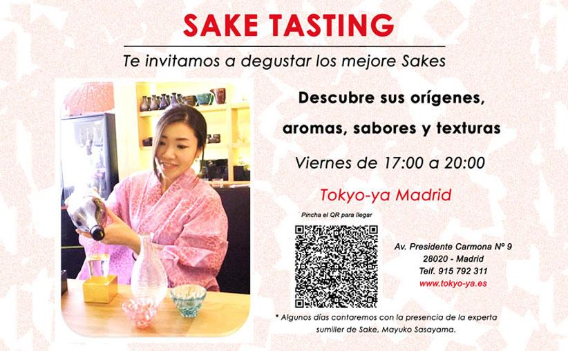 Sake Tasting en TOKYO-YA Madrid