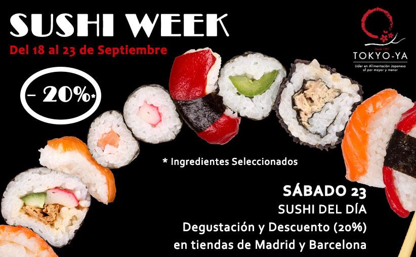 Sushi Week desde el 18 al 23 de Septiembre