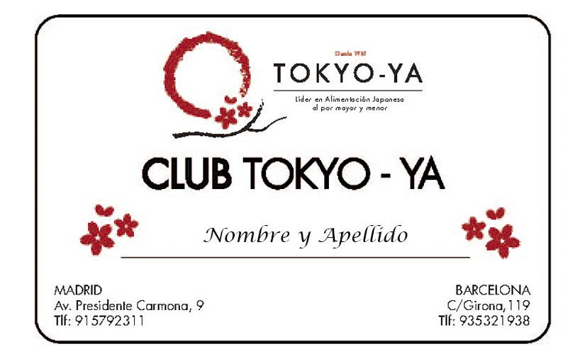 Tarjeta Club Tokyo-ya