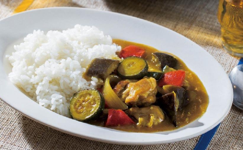 Curry con Verduras de Verano